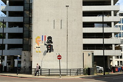 space invader (Luna Park) Tags: london england uk streetart tileart spaceinvader invaderwashere lunapark starwars lukeskywalker darthvader father son