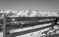 Les Trois Valles (sandybrinsdon) Tags: french alps europe2016 snow flickr fence frenchalps