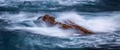 flowing water (nelsonjose) Tags: water weather rocks flow blue ocean longexposure seascapes iceland islandia necastugahotmailcom