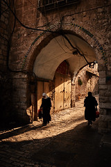Troubled Minds (singulartalent) Tags: ramparts israel jerusalem shadows silhouettes oldcity jewish arab christianity sunset muslim