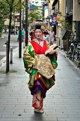 Tayuu Kikugawa in Gion, Kyoto, 2016. (andrea.guidetti) Tags: asia japan kyoto gion geisha tayuu oiran maiko geiko kimono amazing style lovejapan