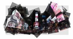 Times Square NYC (UlisesBedia) Tags: ulisesbedia panograph panographic panoramic panorama panografie panoram building crow people lights night composition composicion cars taxis usa new york city midtown 5th timessquareisamajorcommercialintersectionandneighborhoodinmidtownmanhattan newyorkcity atthejunctionofbroadwayandseventhavenue andstretchingfromwest42ndtowest47thstreets1brightlyadornedwithbillboardsandadvertisements timessquareissometimesreferredtoasthecrossroadsoftheworld 2thecenteroftheuniverse 3theheartofthegreatwhiteway 456andtheheartoftheworld7oneoftheworldsbusiestpedestrianintersections 8itisalsothehubofthebroadwaytheaterdistrict9andamajorcenteroftheworldsentertainmentindustry10timessquareisoneoftheworldsmostvisitedtouristattractions drawinganestimated50millionvisitorsannually11approximately330 000peoplepassthroughtimessquaredaily manyofthemtourists 12whileover460 000pedestrianswalkthroughtimessquareonitsbusiestdays7formerlylongacresquare timessquarewasrenamedin1904afterthenewyorktimesmoveditsheadquarterstothenewlyerectedtimesbuilding thesiteoftheannualballdropwhichbeganondecember31 1907 andcontinuestoday attractingoveramillionvisitorstotimessquareeverynewyearseve13timessquareisnotasquareinthegeometricsenseofapolygon butismoreofabowtieshape ortwotrianglesemanatingroughlynorthandsouthfrom45thstreet14duffysquare thenorthernmostoftimessquarestriangles wasdedicatedin1937tochaplainfrancispduffyofnewyorkcitysus69thinfantryregimentandisthesiteofamemorialtohim alongwithastatueofgeorgemcohan15