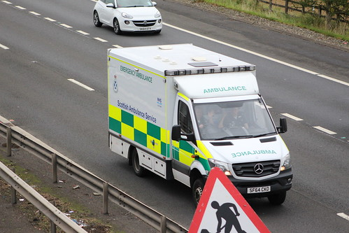 M9 SF64 CKO MERCEDES SPRINTER SCOTTISH AMBULANCE SERVICE