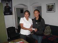 Awarding the Scholarships