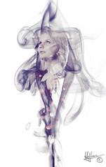 Steffy 2 (N. Hoffmann) Tags: light shadow girl female germany hair women europe smoke human short 2015 stutensee