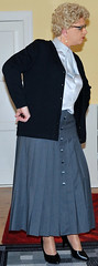Ingrid019573 (ingrid_bach61) Tags: skirt mature button cardigan femdom pleated strickjacke governess faltenrock bowblouse schleifenbluse durchgeknpft