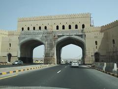 Amazing gates built over the freeway!