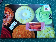 Another Bday envie, outgoing (GinaVisione) Tags: yum birthdays mailart snailmail calendars repurposing goodmailday handmadeenvelopes sfcorrespondencecoop ginavisione