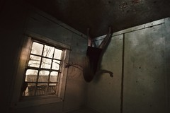 Home Sweet Home (SkylerBrown) Tags: woman abandoned window girl dark scary shadows darkness fear ghost gothic haunted creepy spooky insanity nightmare disturbing