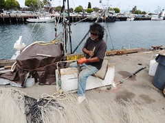 Fishing net work, San Pedro (Konabish ~ Greg Bishop) Tags: sanpedro