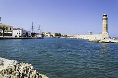 Rethymno Crete (Paul E. Dyer) Tags: travel light sea summer lighthouse holiday building tourism buildings greek coast seaside nikon holidays harbour resort greece coastal crete 1855 antiquities rethymno oldharbour 2015 f3556 nikor d3200 180550mmf3556 180550