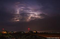 July 8 2016 Lightning - Scene 1 (Shamsul Hidayat Omar) Tags: light weather night photography nikon long exposure low malaysia lightning omar selangor tanjung karang hidayat d90 kilat shamsul