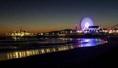 flkr-9372 (Joe Birkman) Tags: sunset beach night pier santamonica santamonicapier