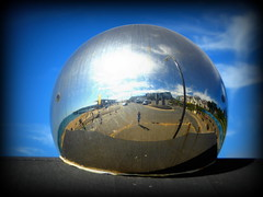 Boscombe reflected (Katharine Hunt) Tags: boscombe bournemouth regeneration mirror mirrorball reflection pier competition postcard