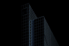Phantom (Paul Buckingham) Tags: abstract lines architecture monotone darkbackground