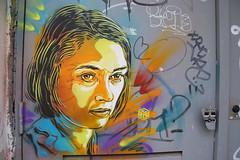 Niki De Saint Phalle (HBA_JIJO) Tags: portrait urban woman streetart paris france celebrity art painting graffiti stencil artist femme spray peinture pochoir c215 christiangumy pochoiriste hbajijo