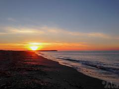 Somewhere in Gaspe... (pimeae) Tags: ocean sunset sea orange canada beach water quebec gaspesie gaspe