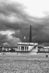Lifeguard Tower (ericgrhs) Tags: beach clouds strand warnemnde wolken balticsea ostsee rostock lifeguardtower wasserwacht