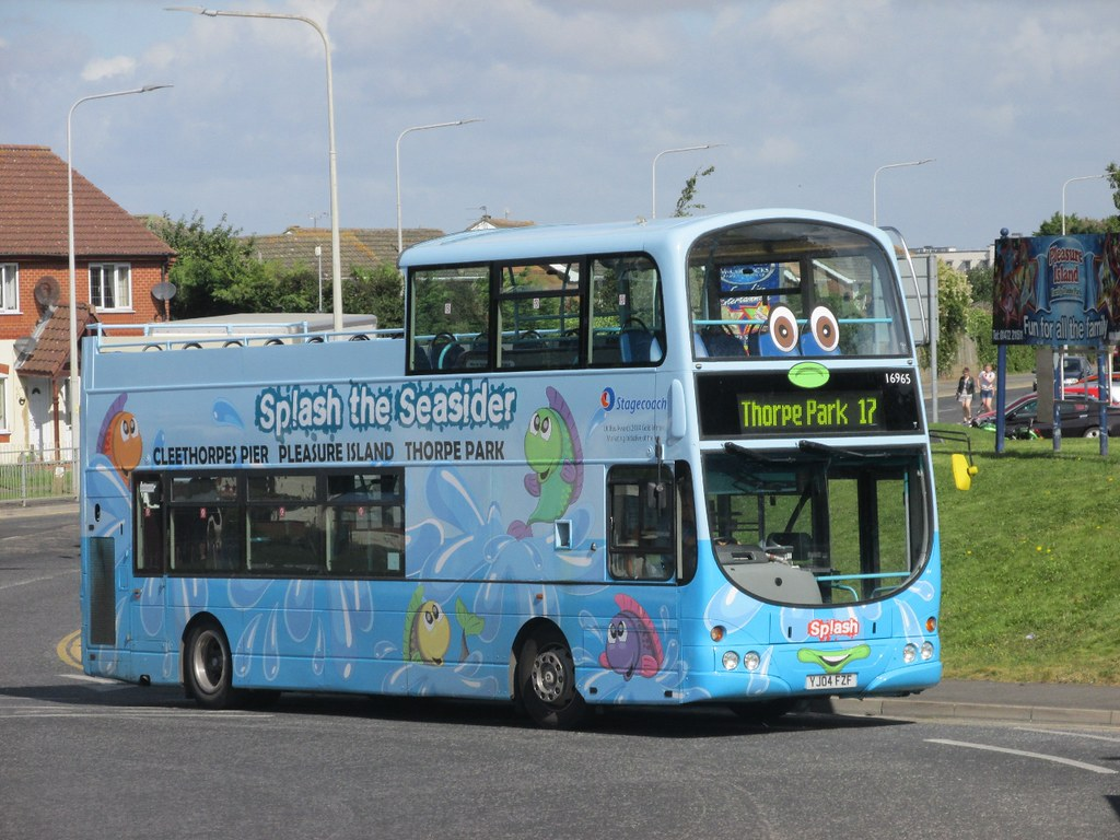 Stagecoach Grimsby Cleethorpes 16965 YJ04FZF 'Splash' Kings Rd, Cleethorpes  on 17 (1