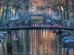 Amsterdam (Belinda Fewings (3 million views. Thank You)) Tags: november city reflecting reflections water netherlands amsterdam bridges bridge