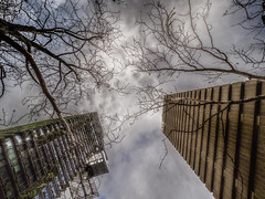 uts (bartosz.kwasnicki) Tags: sydney australia olympus em1 clouds skycrapers city urban winter sky architecture brutalism green bulding uts perspective construction