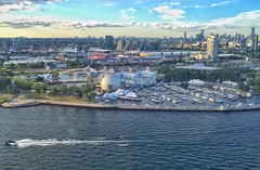 Ontario Place - YTZ Approach (@ThetaState) Tags: city sunset toronto ontario canada water speedboat july aerial recreation lakeontario ontarioplace yyz 2016