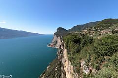 Gardasee - Lake Garda [in Explore July 20, 2016] (Yvonne Oelsner) Tags: italy cliff nature landscape lakegarda waterscape lagodigarda gardasee tremosine pieve