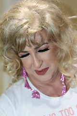 August 2016 (Patrice Bailey) Tags: ts tv tg tranny trans transgender transvestite cd crossdress crossdresser crossdressed tgirl tgurl gurl blonde makeup lips earrings jewelry