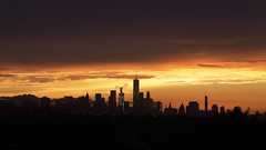 Today's Sunset :) (ericles1976) Tags: sunset canon manhattan newyork nyc skyline longexposure sunrise landscape city buildings architecture art outdoors