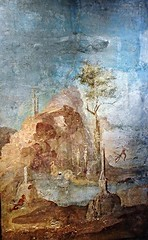 """Landscape with myth of Actaeon"" (25-45 AD) - from Vesuvian area - Exhibition ""Myth and Nature"" at Archaeological Museum of Naples, until September 30, 2016 (* Karl *) Tags: actaeon landscape myth naples archaeologicalmuseum vesuvianarea diana arthemis"