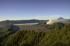 View of Mount Bromo (narenrit) Tags: bromo mountain mist light sun sunrise cloud sky morning valcano tree view beauty hill top scenic indonesia tropical asia asian east cliff travel trip mount sapatate different village country