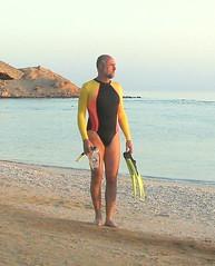Snorkeling in Egypt (nitram357) Tags: swimsuit swimwear swimsuits leotard leotards leotardo badpakje justaucorps maillot swimming longsleeved fashion fashionable male turnpakje leisure leotard357 indoor man sportswear use abuse fitness workout gymnastics snorkeling