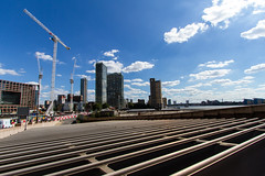 The Cut to the Thames August 2016 (18 of 42) (johnlinford) Tags: canarywharf canon canonefs1022 canoneos7d construction cranes docklands grid london uk urban landscape