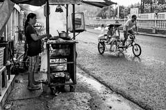BBQ and Trisikad (JustinZ850) Tags: tigbauan iloilo philippines asia travel street bbq trisikad pedicab blackandwhite bw urban