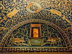 Amber Glass (stephencurtin) Tags: mausoleum galla placidia ceiling 5th century mosaics
