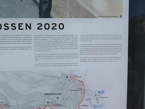 Vøringfossen öster om Øvre Eidfjord i Norge 2016