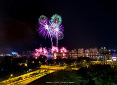 SG51 Fireworks (Daniel's Journal) Tags: sg51 fireworks longexposure nightscene nightshot nightscape danieljournal olympus em1 1240mmprolens tanjongrhu sporthub