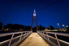 Le pont araigne (Astrid Deschenes) Tags: pont qubec rivirestcharles bluehour heurebleue passerelle
