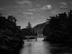 31/52 Bridge over River Oich (The Urban Scot) Tags: 52project 52weeks bridge discardedabandoned fortaugustus fujix30 greatglen highlands lochness old riveroich river scotland blackandwhite bw fuji landscape monchrome mono