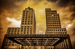 Robert Emmerich - 24 Sepia A cloudy day at the Potsdamer Platz as old picture in Berlin - Germany (Robert Emmerich Photography) Tags: berlin emmerich re rain rainy regenschauer robert robertemmerich sepia hdrphotography hdrphotographers hdrtheworld bahntower monochromeworld monochromephotography btpmonochromepro magnificentmonochrome monochromthuesday hqspmonochrome tower skyscraper hochhaus texture burningsky burning sky potsdamer platz potsdamerplatz germany canon eos dslr 40d photography photomaniagermany lights berlinerfotografen europeanphotography cityscapephotography photoshop lightroom stuckinberlin