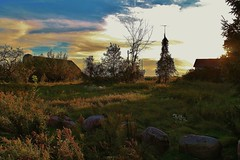 Slipping into Autumn (photographicimages) Tags: autumn light shadows landscape rocks contryside farm abandoned