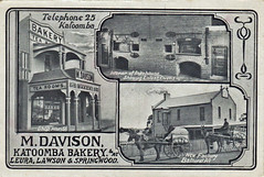 M. Davison Katoomba Bakery Advertising postcard - early 1900s (Aussie~mobs) Tags: mdavison bakery katoomba newsouthwales leura australia vintage advertisement tearooms