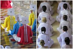 Priesters en gelovigen (MTTAdventures) Tags: temple cao dai mis geloof kleuren gelovigen priesters
