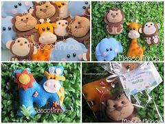Mascotinhos (Mascotinhos em Feltro) Tags: selva animais nascimento maternidade chaveiro safári lembrancinhas mascotinhos