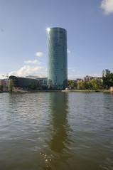 The Westhafen Tower (Rich3012) Tags: tower germany deutschland am frankfurt main westhafen hesse gerippte