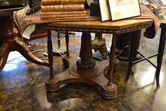 """Burlwood Center Table, L. 19th c. Needs Finish, As-is • <a style=""""font-size:0.8em;"""" href=""""http://www.flickr.com/photos/51721355@N02/18277585548/"""" target=""""_blank"""">View on Flickr</a>"""