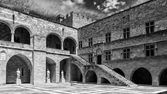 Palace of the Grand Master of the Knights of Rhodes & Silver Efex Pro (Wim Boon Fotografie) Tags: greece rodos canonef1740mmf4lusm griekenland niksoftware canoneos7d wimboon