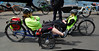 Trikers' tryout (beqi) Tags: panorama bike bicycle edinburgh recumbent photoshoppery cramond 2015 edinburghfestivalofcycling