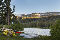 Canoes (Nicholas LaCroix Photography) Tags: canoe mammoth mammothlakes lake trees snow mountains fun canon 5d 5dm2 5dmii 50f14