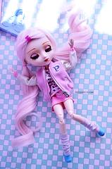 I'm falling, and falling ~ | Pullip Kirsche (Kumo~Milk^^) Tags: pink cute doll eyelashes sugar wig groove gloss pullip kirsche obitsu eyechips junplanning rewigged rechipped
